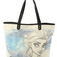 Disney Frozen Elsa Sketch Canvas Tote Bag