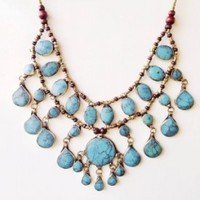 Egyptian Nights Necklace in Blue