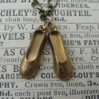 Vintage Ballet Shoes Necklace