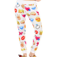 I LOVE EMOJIS SWEATPANTS