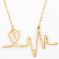 ModCloth Nifty Nerd And the Beat Goes Aw Necklace
