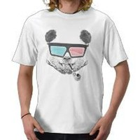 Vintage panda 3-D glasses Shirts