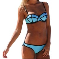 Only Trend Women's Bandage Push Up Bikini Set