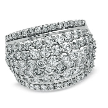 4 CT. T.W. Diamond Dome Ring in 14K White Gold