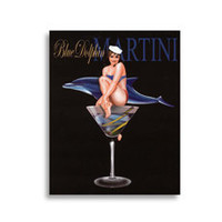 Martini Girls - Blue Dolphin Wall Art - Bed Bath & Beyond