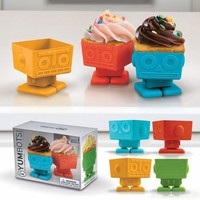 Buy Yumbots: Set of Four Robot Cupcake Molds by Fred for $18.99 at Pop Deluxe