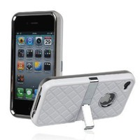 Amazon.com: White Hard Checker Textured Plastic Skin Case Cover with Chrome Stand for Apple iPhone4 4G 4S+One Cute Sexy Red Bra Key Chain Charm Strap: Cell Phones & Accessories