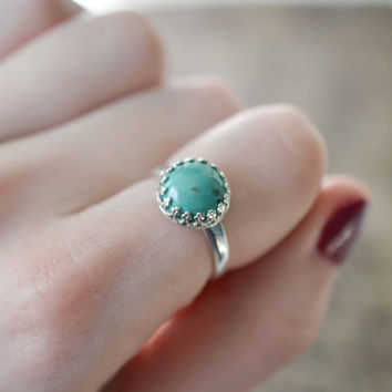 Turquoise Ring, Boho Ring, Gypsy Jewelry, Sterling Silver Turquoise Ring