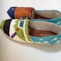 Toy Story Inspired Painted TOMS