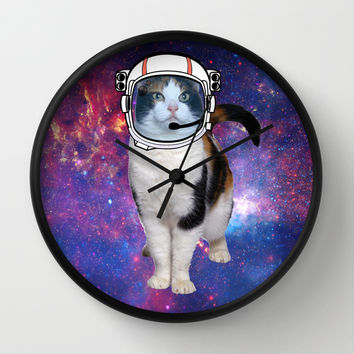 Space cat Wall Clock by S.Levis