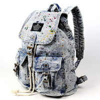 Denim Graffiti backpacks for girls | school laptop bags from Vintage rugged canvas bags