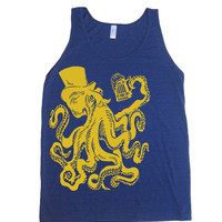 Mens / Unisex Otto The Octopus Tri-Blend Tank Top - American Apparel 50/25/25 - XS S M L XL (8 Color Options)