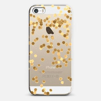 LIMITED EDITION FAUX GITTER Crystal Clear iPhone Case iPhone 5s case by Monika Strigel | Casetify