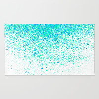 sparkling mint Rug by Marianna Tankelevich
