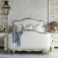 ELOQUENCE SOPHIA Upholstered Silver Bed