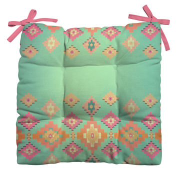 Monika Strigel Navajo Sunshine Outdoor Seat Cushion