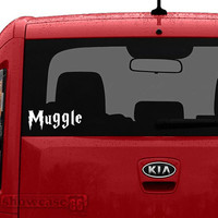 Muggle Decal - Vinyl Wall Art - FREE Shipping - Fun Decal Inspired by Harry Potter