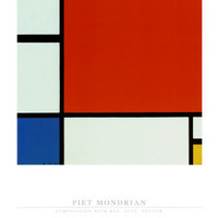 Composition with Red Blue Yellow Prints by Piet Mondrian at AllPosters.com