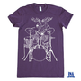 Womens T-shirt MOOSE - American Apparel Eggplant S M L XL (11 Colors Available)