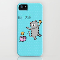 Yay, Toast! Kitty iPhone Case by Dale Keys | Society6