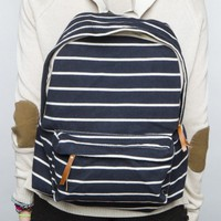 John Galt Striped Backpack