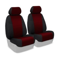 Coverking Custom Fit Front 50/50 Bucket Seat Cover for Select Honda Civic Models - Neosupreme (Wine with Black Sides)