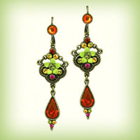 Orly Zeelon Jewelry -  Royal Arabesque Flower Earrings - Earrings