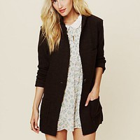 Free People Poetic Verse Sweater Blazer