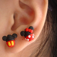 Disney Cupcake Earring (Minnie mouse, Mickey mouse)