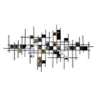 Squares Metal Wall Art - Blue/Multi