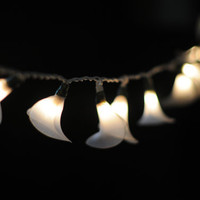20 White modern flower style handmade string light lantern hanging indoor patio garland wedding party