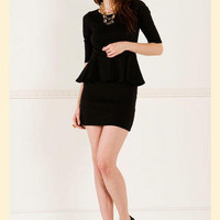 Leila Ponte Peplum Dress