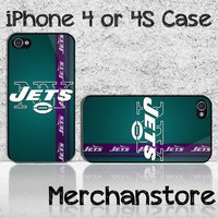 NFL New York Jets American Football Team Logo Custom iPhone 4 or 4S Ca