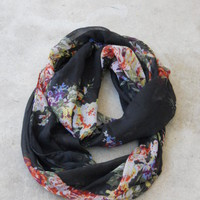 Delicate Bouquet Infinity Scarf [2231] - $14.00 : Vintage Inspired Clothing &amp; Affordable Summer Dresses, deloom | Modern. Vintage. Crafted.