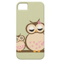 Cute Mother &amp; Baby Owl iphone covers Iphone 5 Cover from Zazzle.com