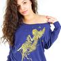 Fairy, Mermaid, Pixie, Golden, Mettalic Ink, American Apparel, Pullover S &amp; L Available