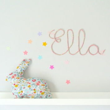 Capel Fabric Wire Name Sign