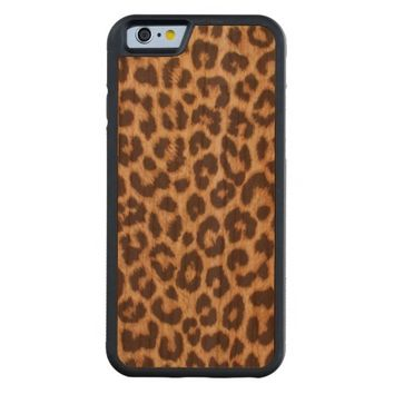 Leopard Print Carved Cherry iPhone 6 Bumper