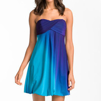 Xscape Strapless Ombré Jersey Dress | Nordstrom