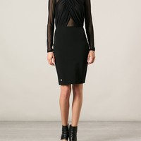 Philipp Plein Sheer Top Dress - First Boutique - Farfetch.com