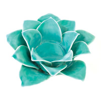 Blue Lotus Tea Light Candle Holder - Blue Lotus Tea Light Candle Holder