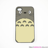 Cute Totoro iPhone 4 Case, iPhone 4s Case, iPhone 4 Cover, Hard iPhone 4 Case, iPhone case
