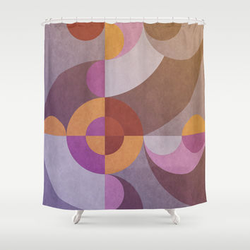 Geometric Shower Curtain by EDrawings38