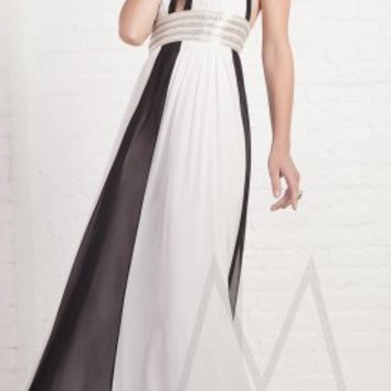 Black and white prom dresses by LM Collection