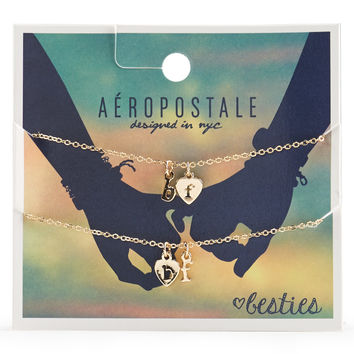 Aeropostale  Besties Short-Strand Necklace 2-Pack - Gold