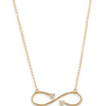 Aeropostale  Infinity Heart Short-Strand Necklace - Gold