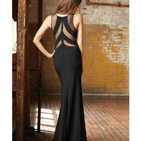 Madison James Black Sheer Paneled Cut Out Dress Prom 2015
