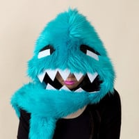 Spark - Turquoise Furry Monster