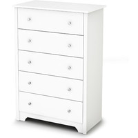Walmart: South Shore Vito 5-Drawer Dresser, White