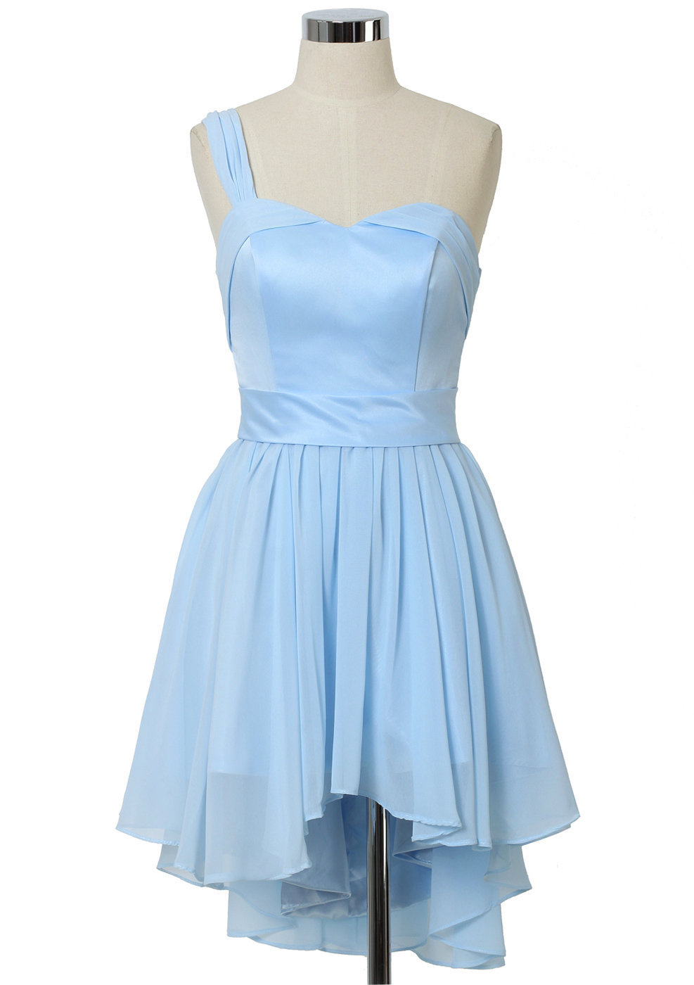 Pastel Blue One Shoulder Dress Retro From Chicwish Dress